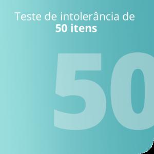 Teste de intolerância de 50 itens