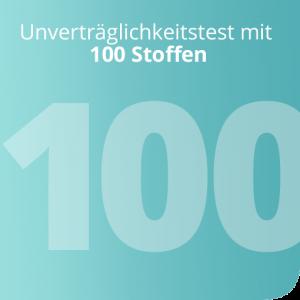 Unverträglichkeitstest mit 100 Stoffen