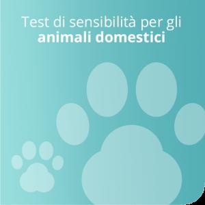 Test di sensibilità per gli animali domestici