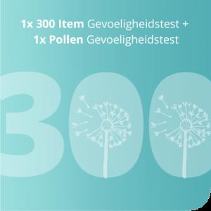 1x 300 Item Intolerantietest + 1x Pollen Gevoeligheidstest