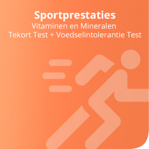 Vitaminen en Mineralen Tekort Test + Voedselintolerantie Test