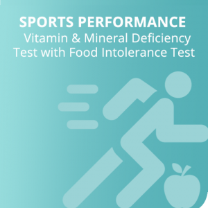 Sports Performance Vitamin & Mineral Deficiency + Food Intolerance Test